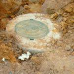 Кессон из бетонных колец для скважины