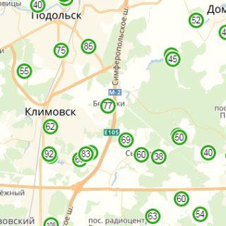 Карта глубин скважин Московской области